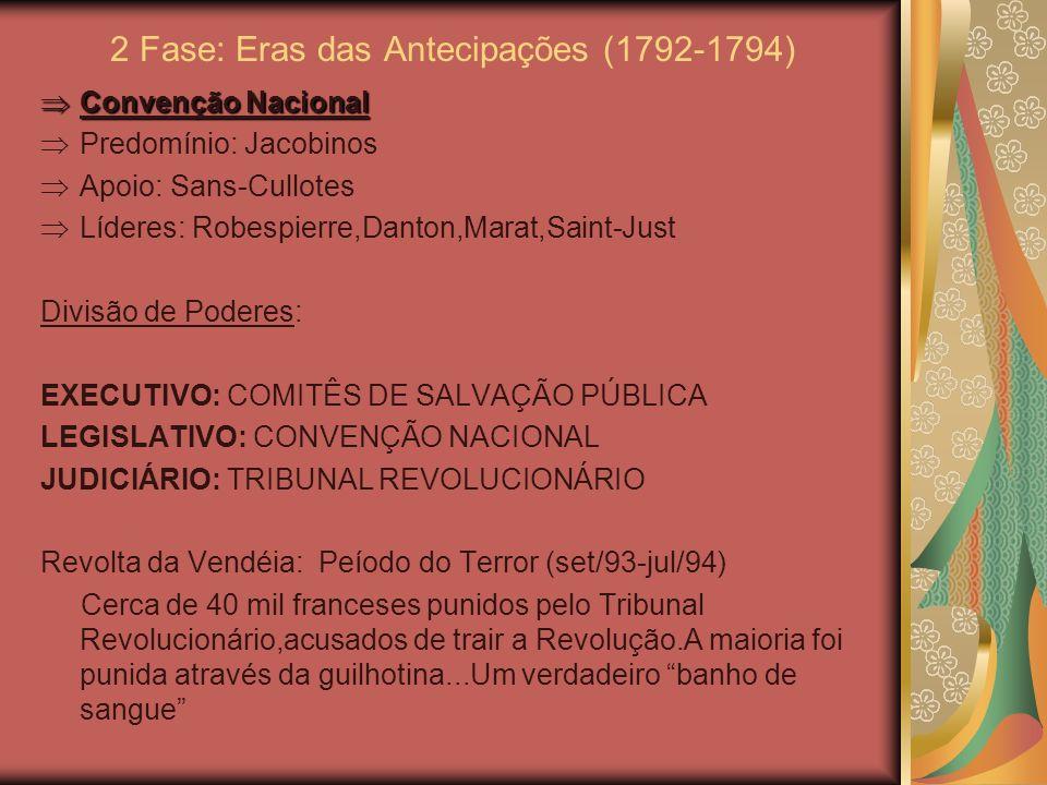2 Fase: Eras das Antecipações (1792-1794)