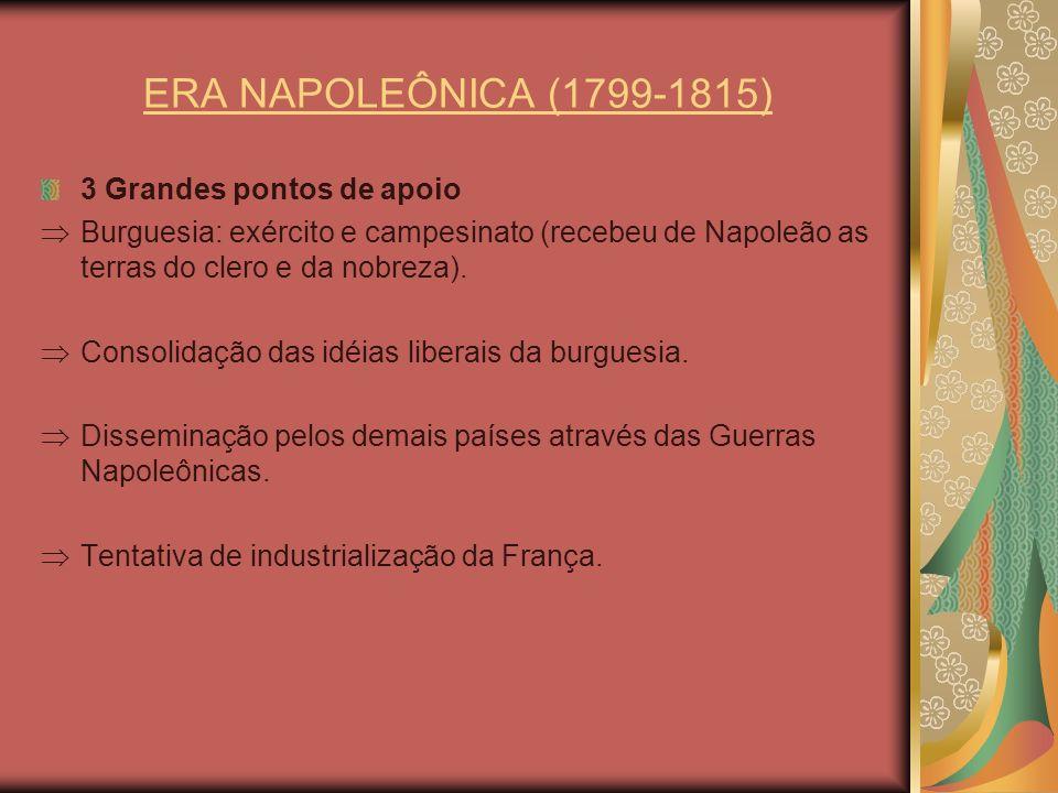 ERA NAPOLEÔNICA (1799-1815) 3 Grandes pontos de apoio