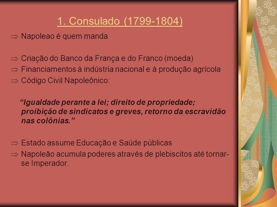 1. Consulado (1799-1804) Napoleao é quem manda