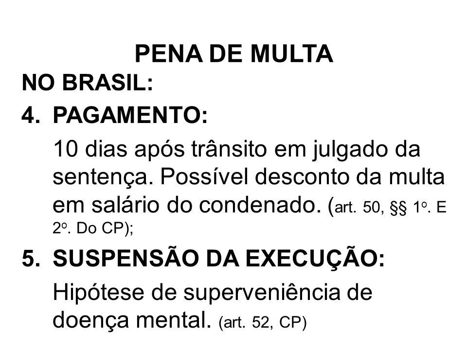 PENA DE MULTA PAGAMENTO: