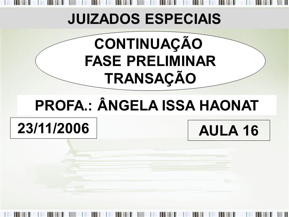 PROFA.: ÂNGELA ISSA HAONAT