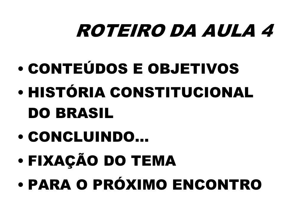 ROTEIRO DA AULA 4 CONTEÚDOS E OBJETIVOS