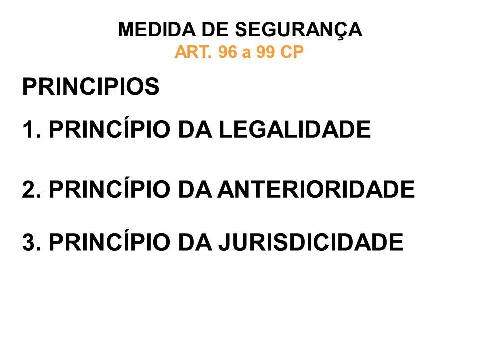 MEDIDA DE SEGURANÇA ART. 96 a 99 CP