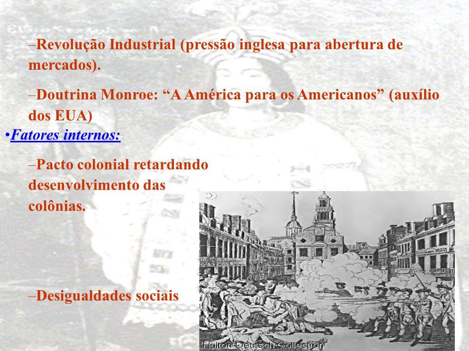 Revolução Industrial (pressão inglesa para abertura de mercados).