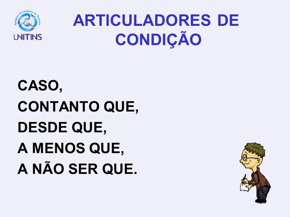 ARTICULADORES DE CONDIÇÃO
