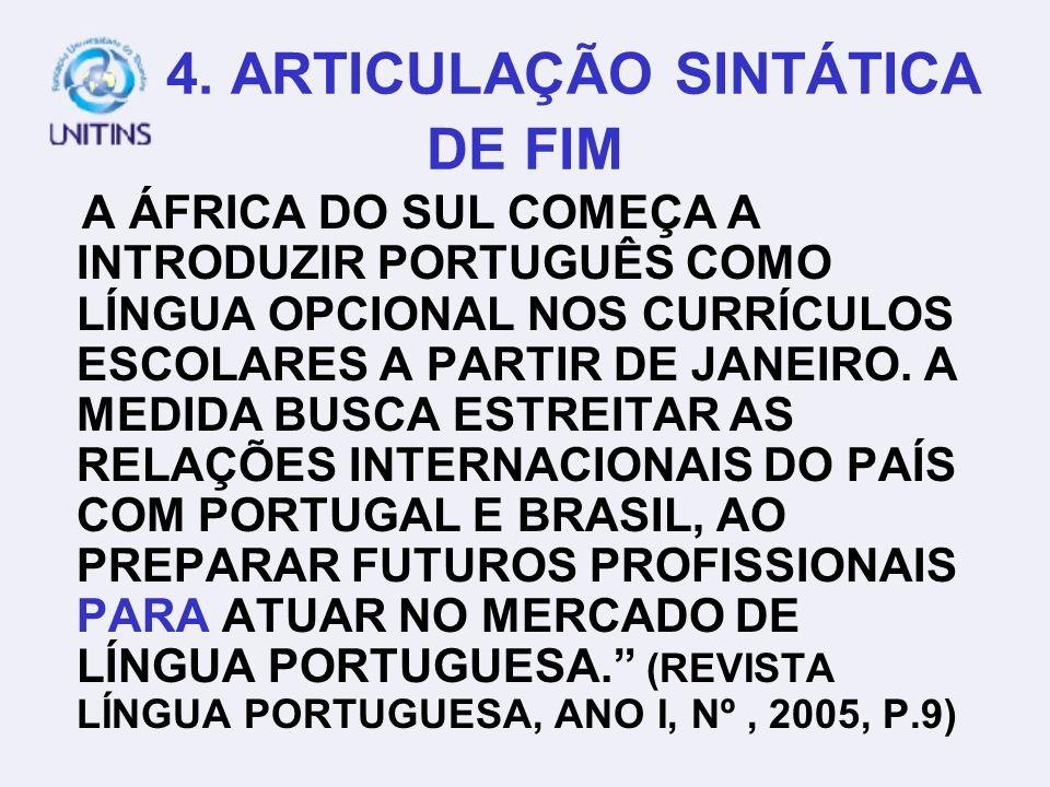 4. ARTICULAÇÃO SINTÁTICA DE FIM