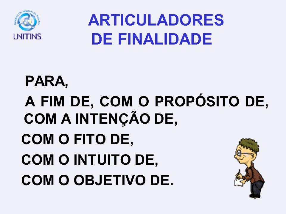 ARTICULADORES DE FINALIDADE