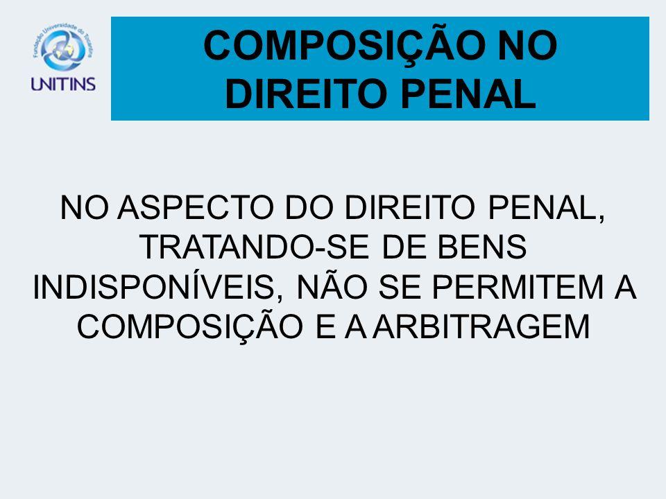 COMPOSIÇÃO NO DIREITO PENAL