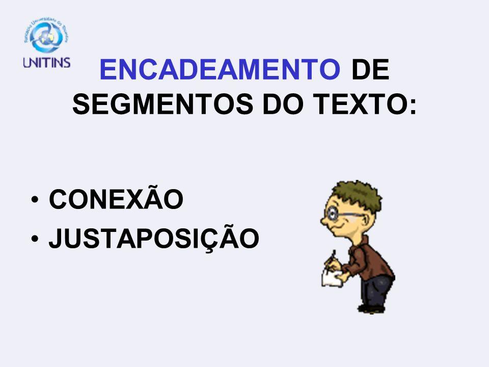 ENCADEAMENTO DE SEGMENTOS DO TEXTO: