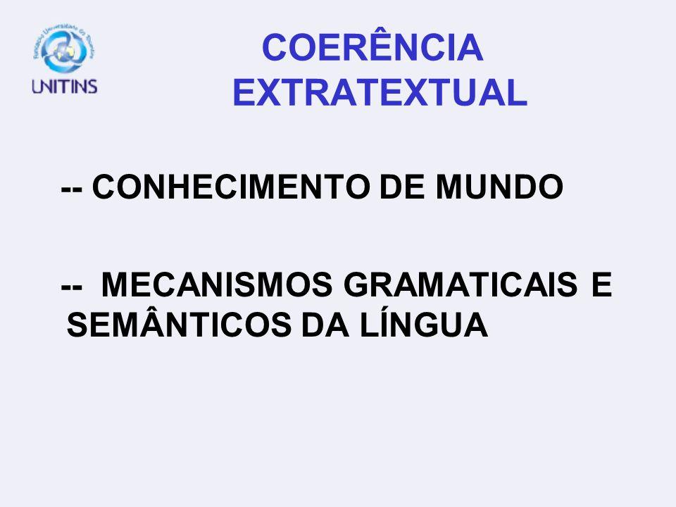 COERÊNCIA EXTRATEXTUAL