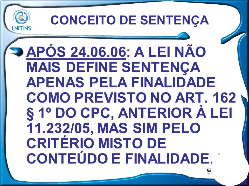 CONCEITO DE SENTENÇA