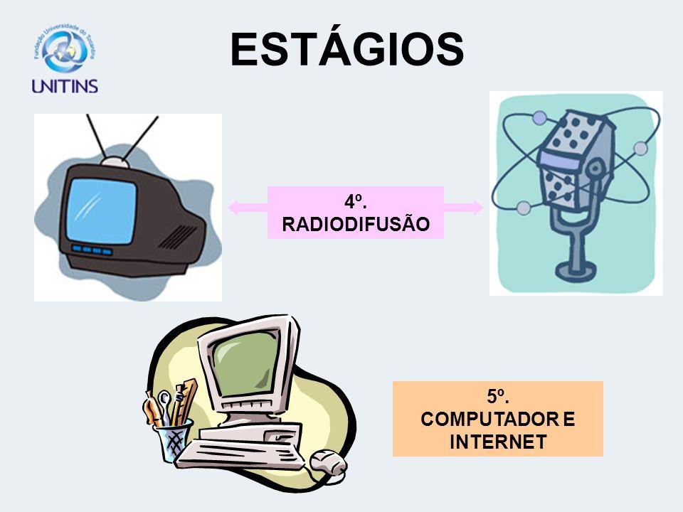 ESTÁGIOS 4º. RADIODIFUSÃO 5º. COMPUTADOR E INTERNET