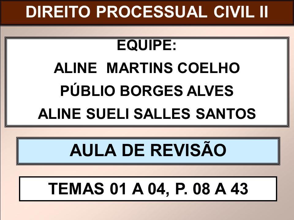 AULA DE REVISÃO DIREITO PROCESSUAL CIVIL II DIREITO PROCESSUAL CIVIL I