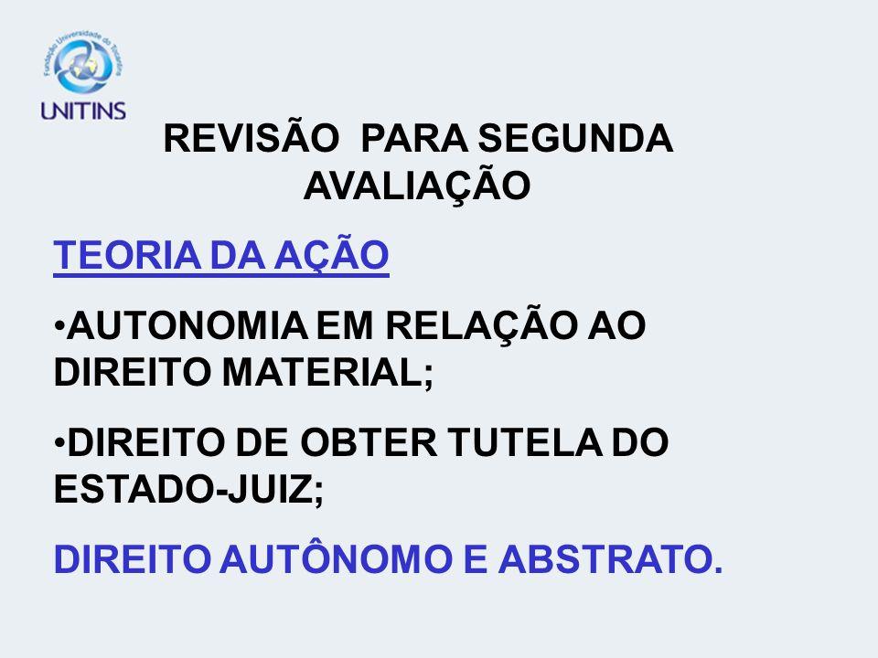 REVISÃO PARA SEGUNDA AVALIAÇÃO