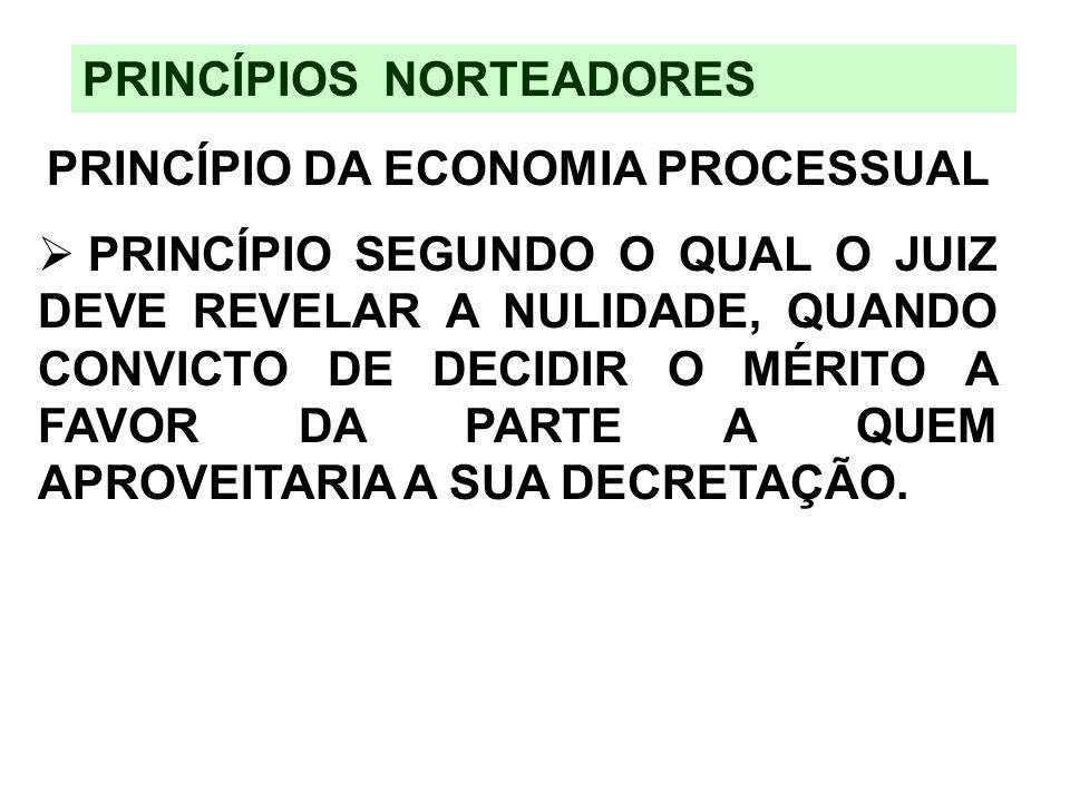 PRINCÍPIO DA ECONOMIA PROCESSUAL
