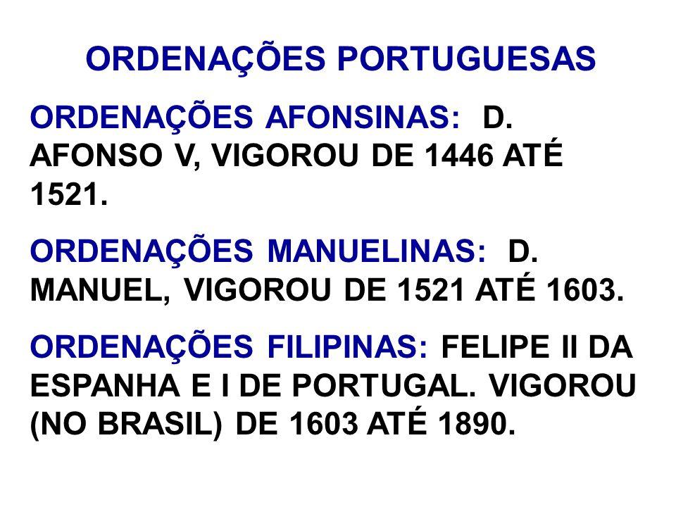 ORDENAÇÕES PORTUGUESAS