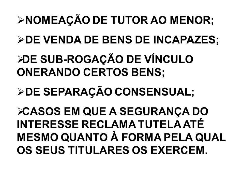 NOMEAÇÃO DE TUTOR AO MENOR;