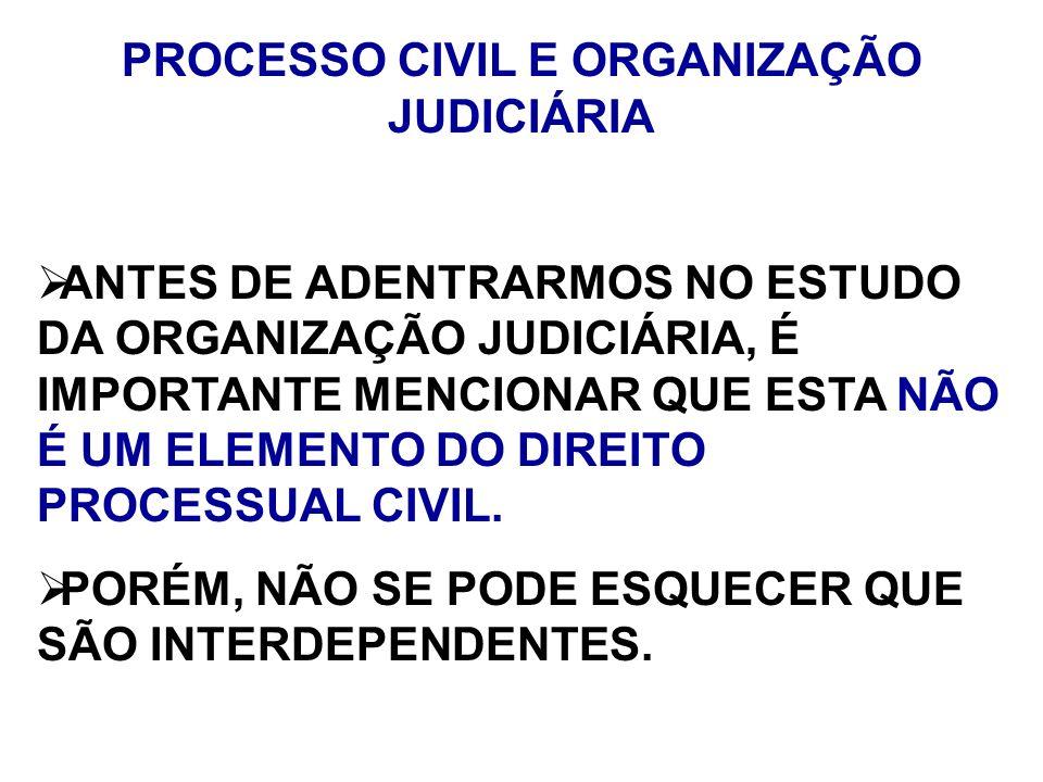 PROCESSO CIVIL E ORGANIZAÇÃO JUDICIÁRIA