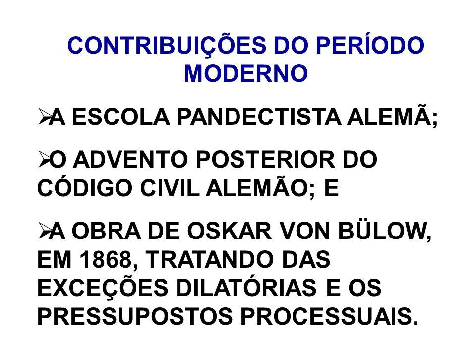 CONTRIBUIÇÕES DO PERÍODO MODERNO