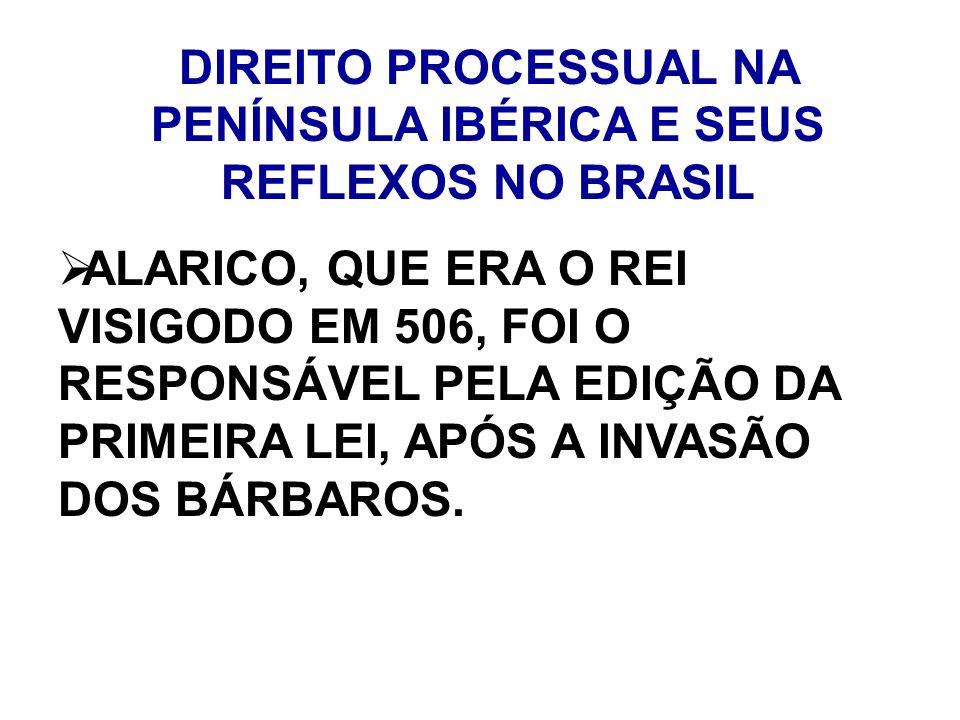 DIREITO PROCESSUAL NA PENÍNSULA IBÉRICA E SEUS REFLEXOS NO BRASIL