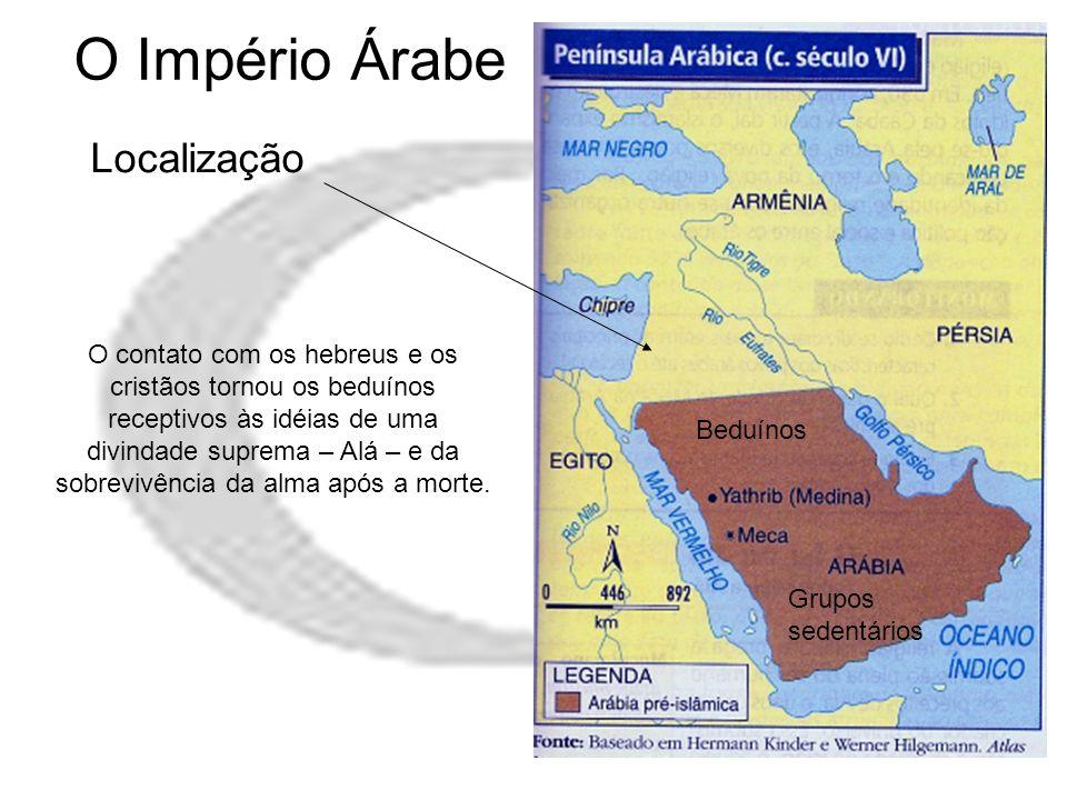 O Império Árabe Localização