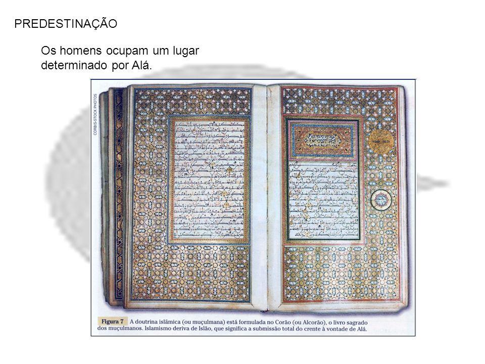 PREDESTINAÇÃO Os homens ocupam um lugar determinado por Alá.