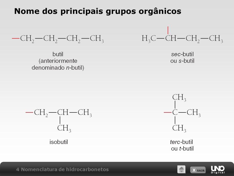 Nome dos principais grupos orgânicos