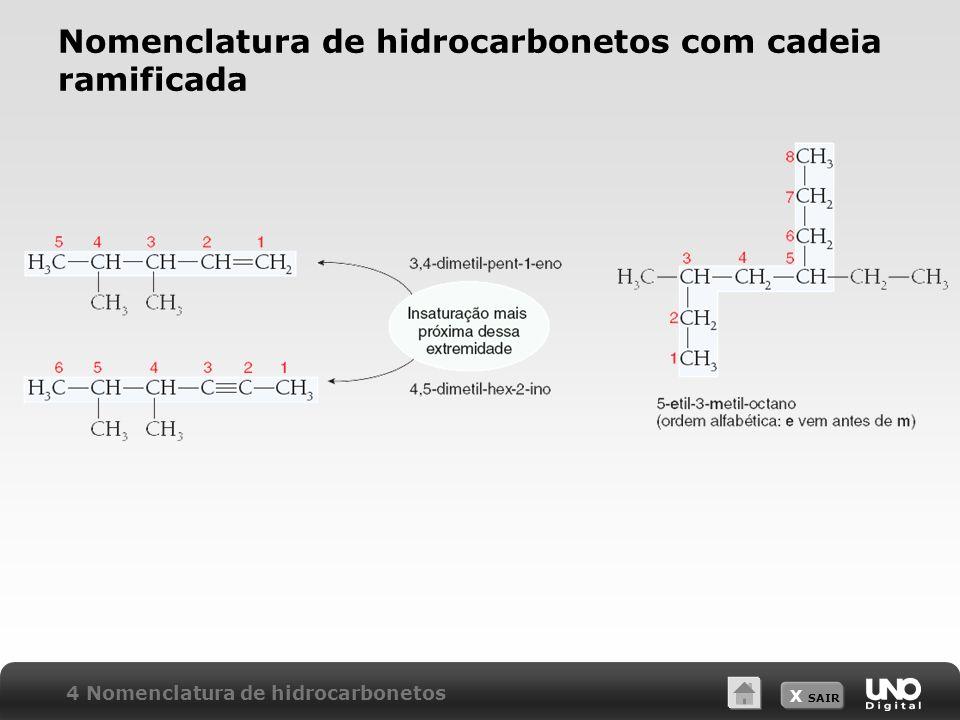 Nomenclatura de hidrocarbonetos com cadeia ramificada