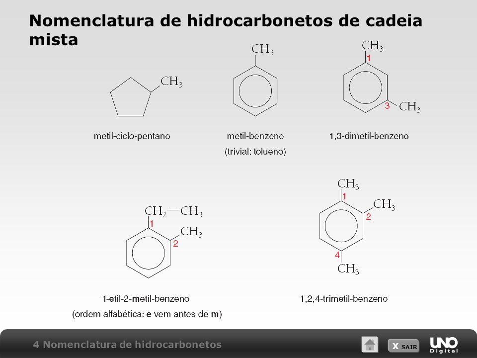 Nomenclatura de hidrocarbonetos de cadeia mista