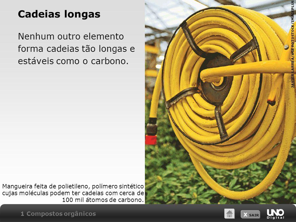 Cadeias longas Nenhum outro elemento forma cadeias tão longas e