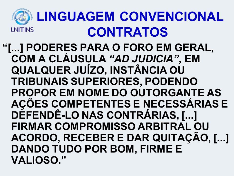 LINGUAGEM CONVENCIONAL CONTRATOS