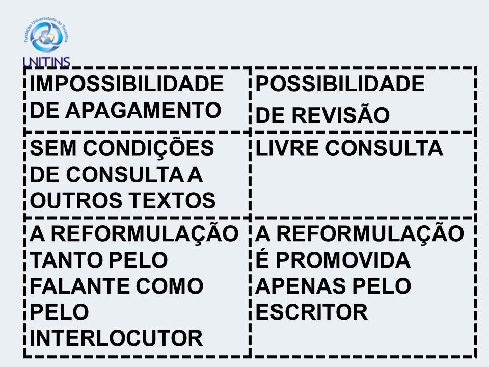 IMPOSSIBILIDADE DE APAGAMENTO