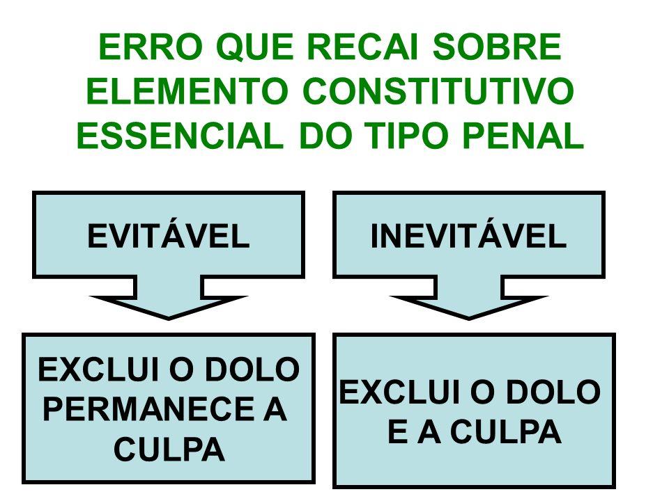 ERRO QUE RECAI SOBRE ELEMENTO CONSTITUTIVO ESSENCIAL DO TIPO PENAL