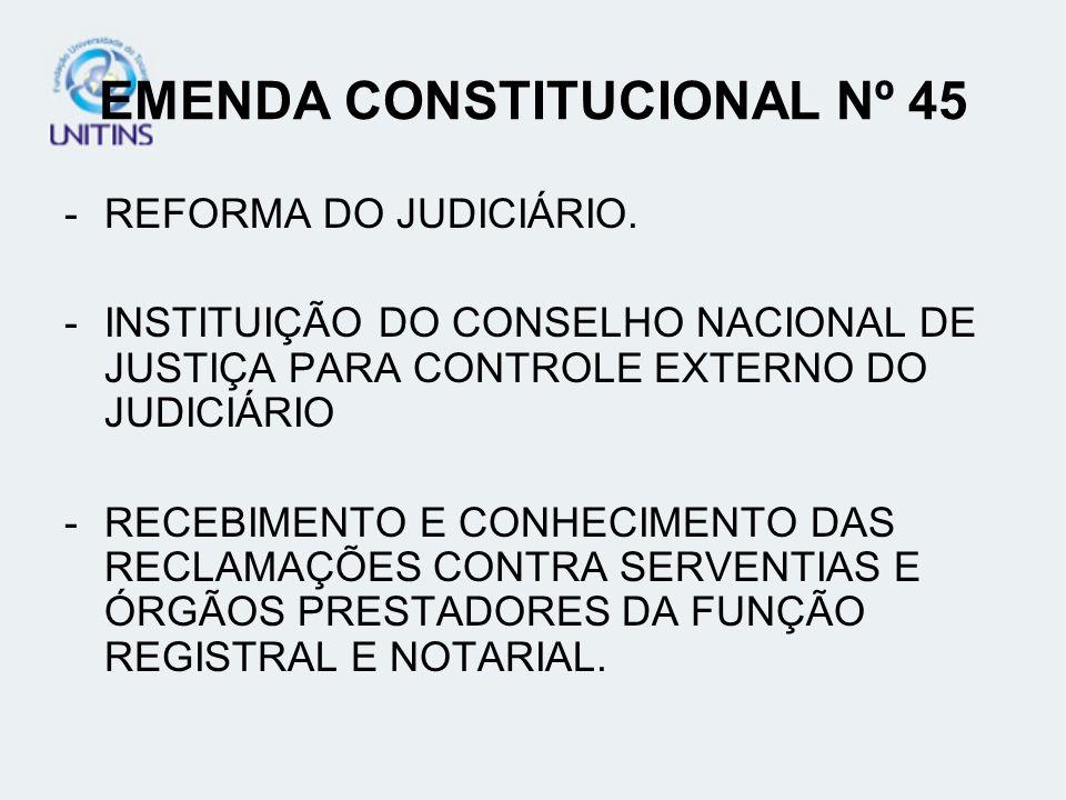EMENDA CONSTITUCIONAL Nº 45