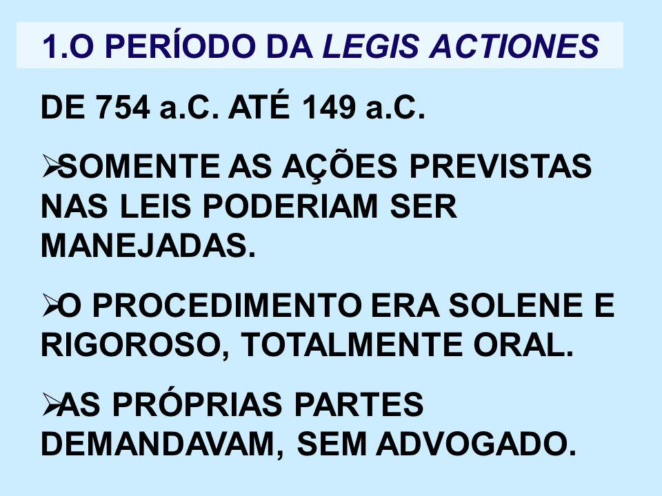 1.O PERÍODO DA LEGIS ACTIONES