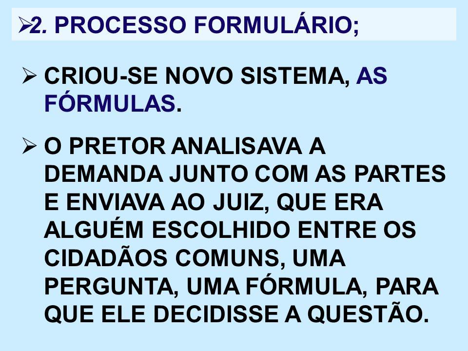 2. PROCESSO FORMULÁRIO; CRIOU-SE NOVO SISTEMA, AS FÓRMULAS.