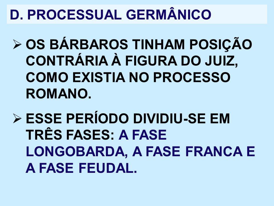D. PROCESSUAL GERMÂNICO