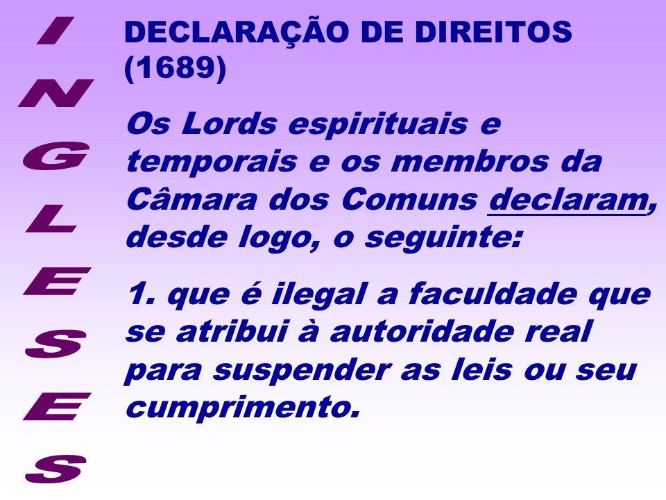 DECLARAÇÃO DE DIREITOS (1689)