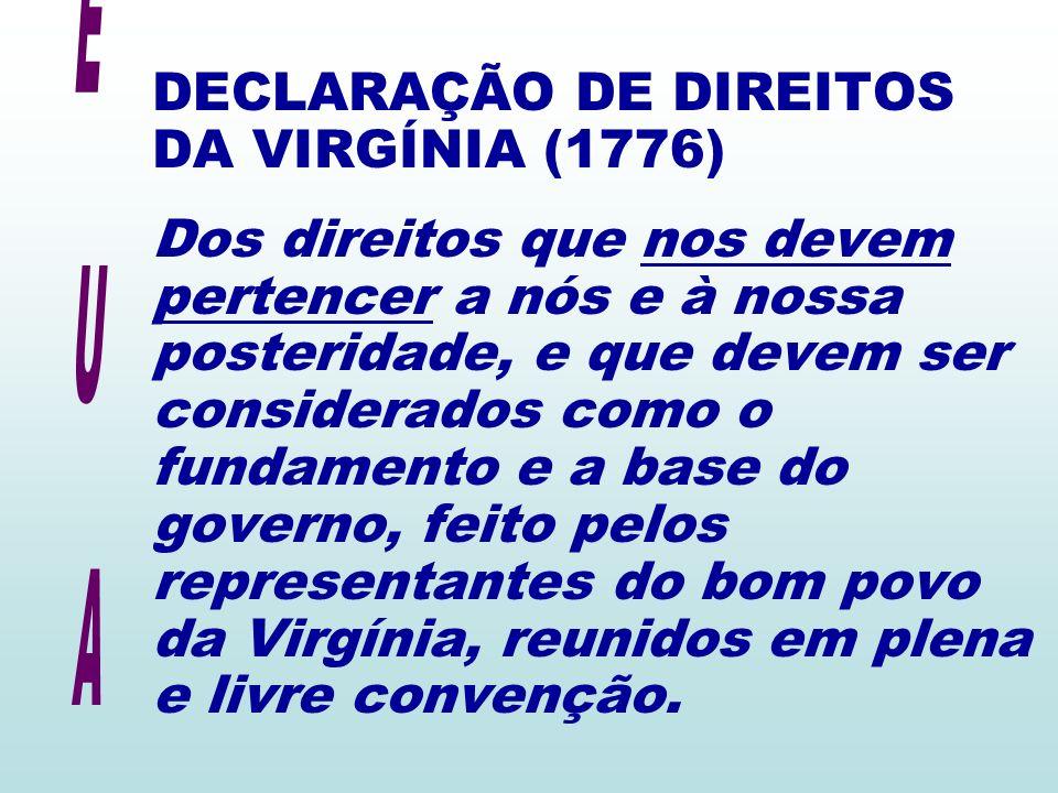 DECLARAÇÃO DE DIREITOS DA VIRGÍNIA (1776)
