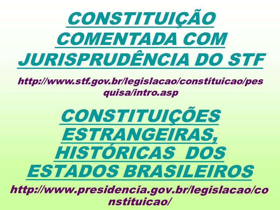 CONSTITUIÇÃO COMENTADA COM JURISPRUDÊNCIA DO STF
