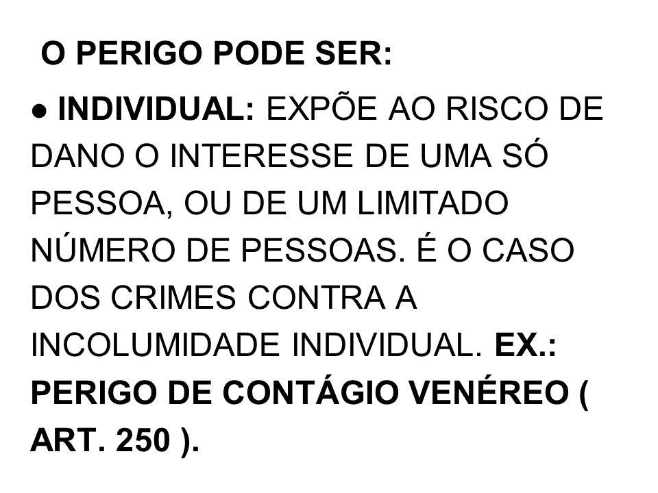 O PERIGO PODE SER: