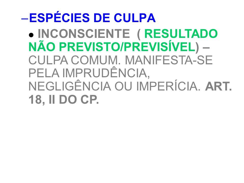 ESPÉCIES DE CULPA