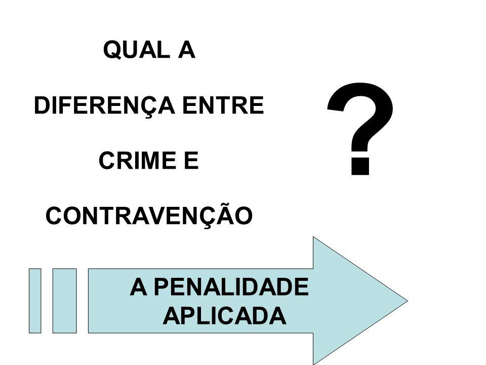 QUAL A DIFERENÇA ENTRE CRIME E CONTRAVENÇÃO
