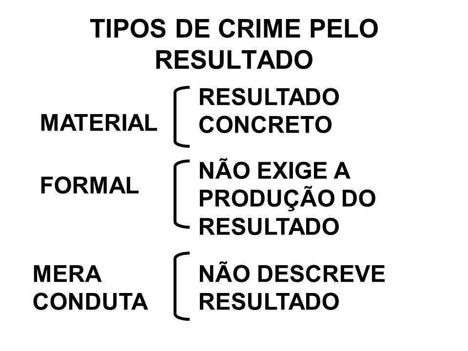 TIPOS DE CRIME PELO RESULTADO
