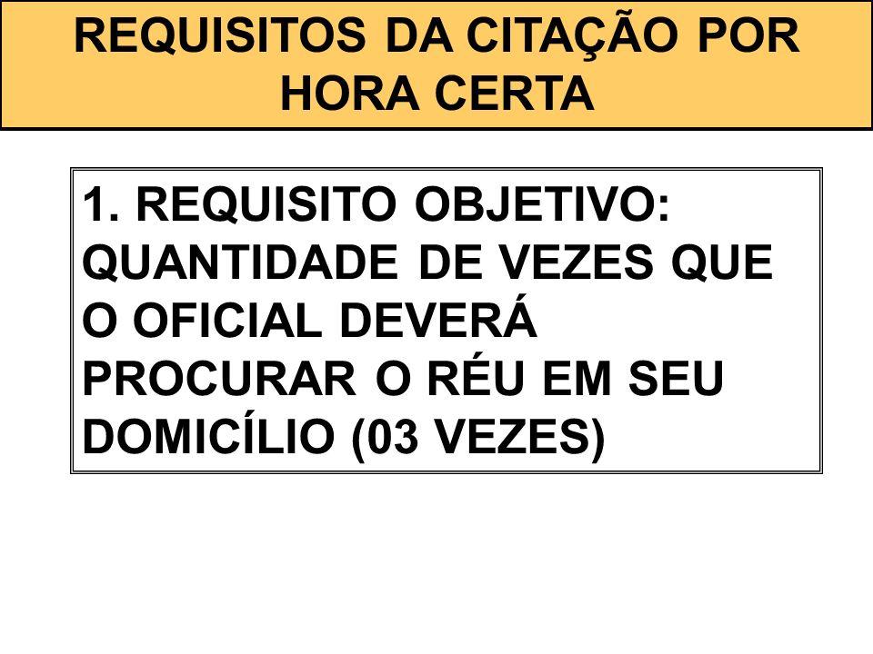 REQUISITOS DA CITAÇÃO POR HORA CERTA