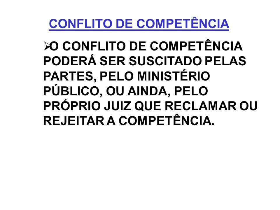 CONFLITO DE COMPETÊNCIA
