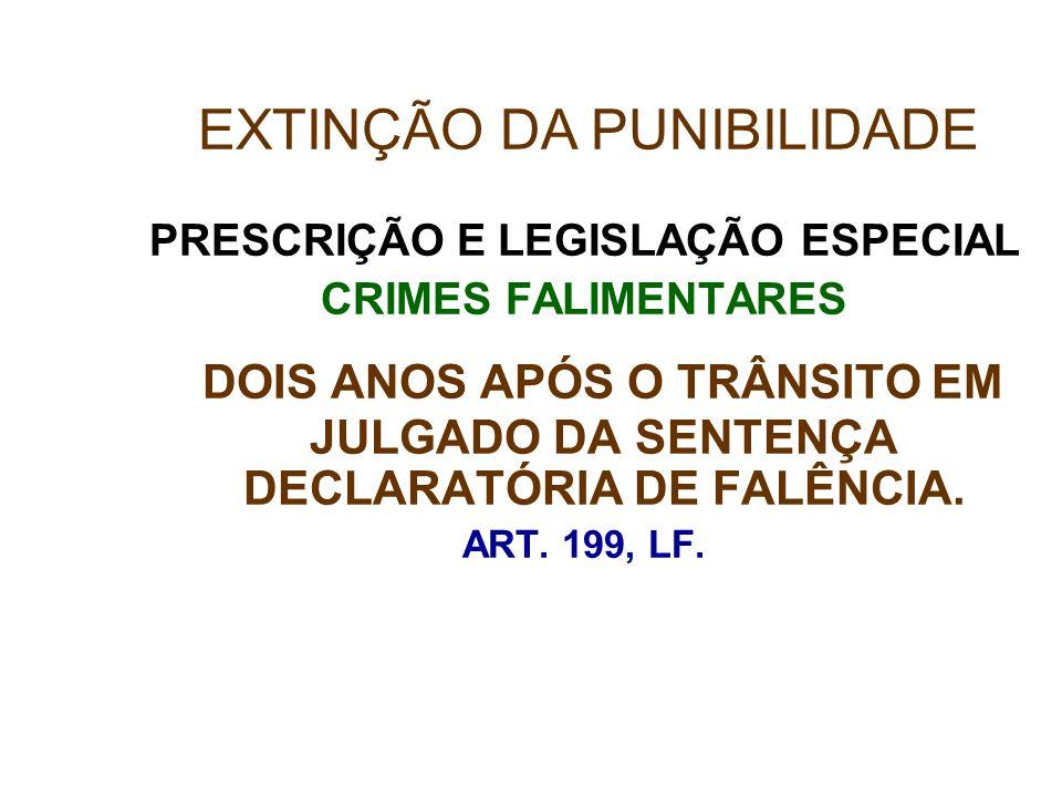 PRESCRIÇÃO E LEGISLAÇÃO ESPECIAL