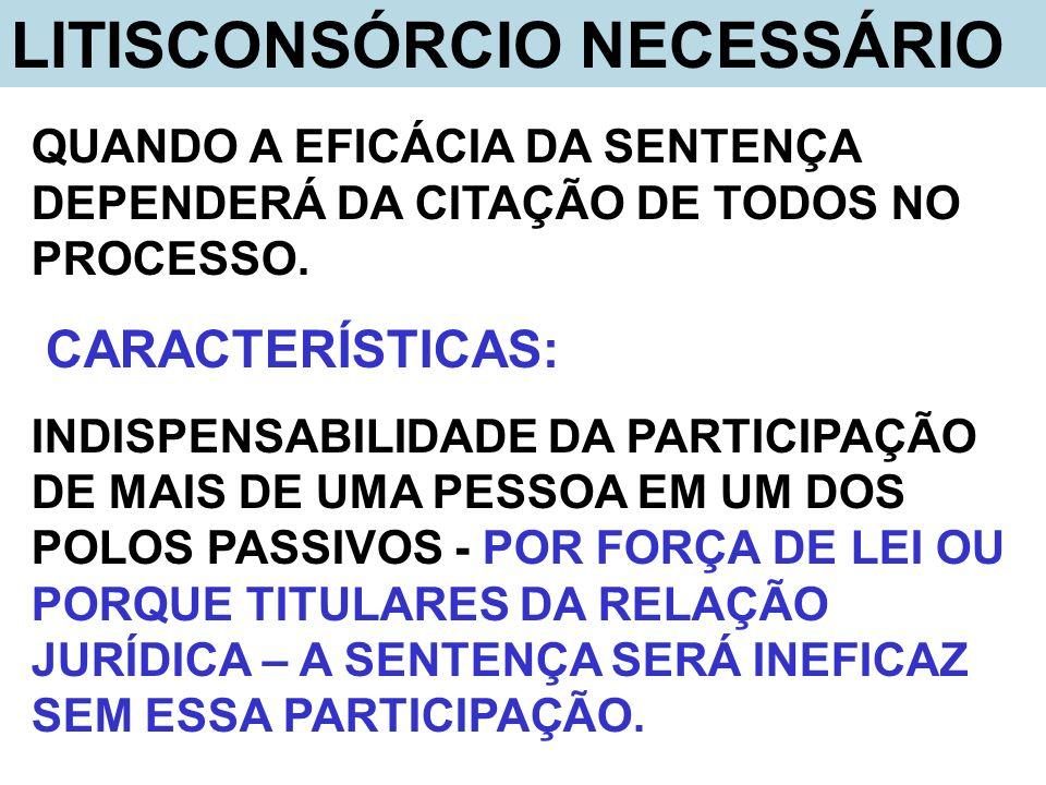 LITISCONSÓRCIO NECESSÁRIO