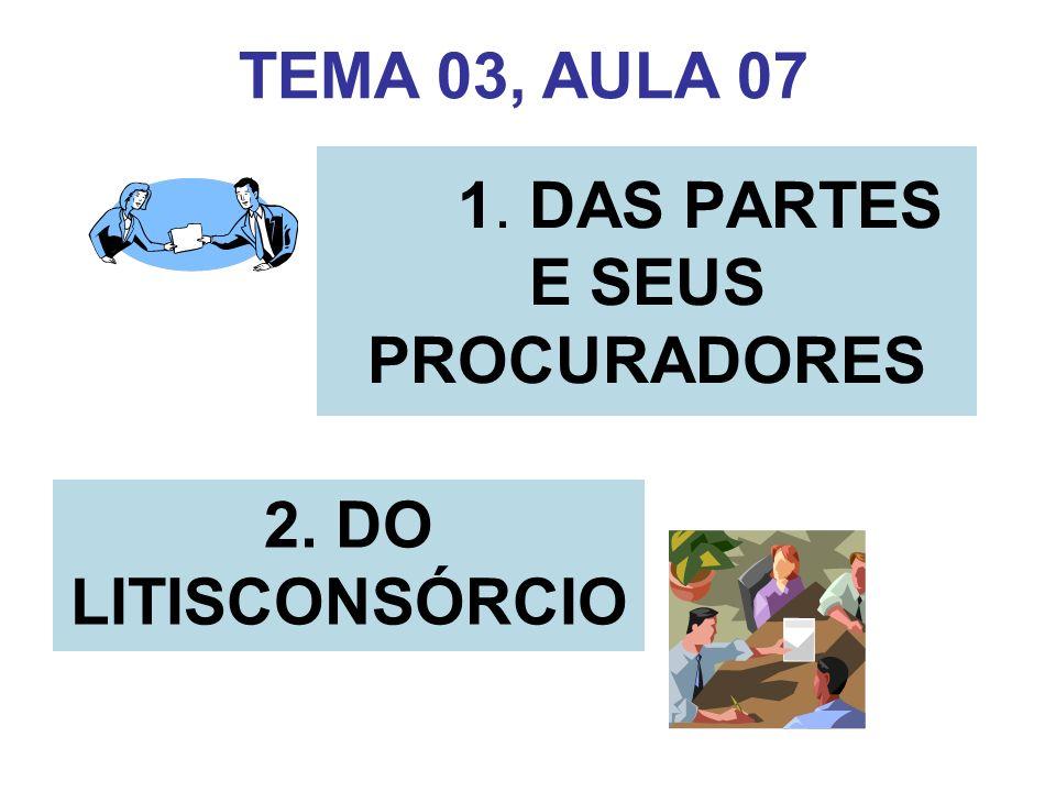 1. DAS PARTES E SEUS PROCURADORES