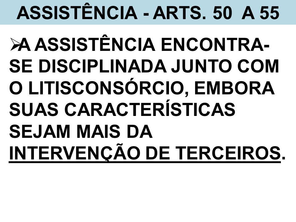 ASSISTÊNCIA - ARTS. 50 A 55